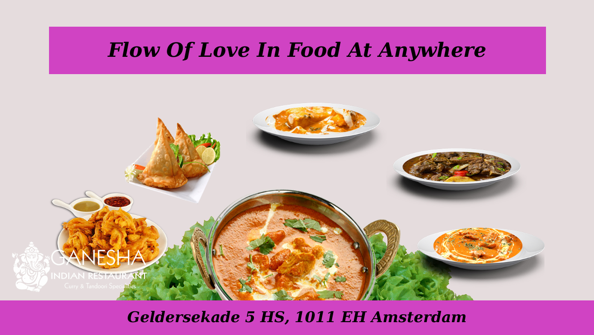 Flow Of Love In Food At Anywhere